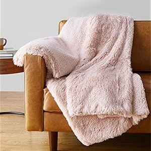 Faux Fur Shaggy Soft Cuddly Sherpa Throw Blanket
